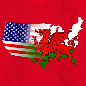 American Welsh Flag Kids' Shirts - Teenage T-shirt