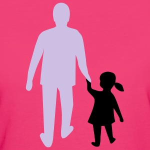 missing father and daughter T-shirts - T-shirt Bio Femme