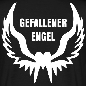 Heart Wings + Dein Text (Gefallener Engel) | unisex shirt black - Männer T-Shirt