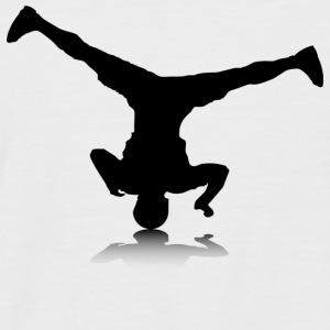 Breakdancer (spin) - Men's Baseball T-Shirt