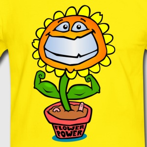 Flower Power T-shirts - Herre kontrast-T-shirt