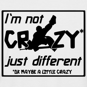 'I'm Not Crazy' Men's Baseball Shirt - Männer Baseball-T-Shirt
