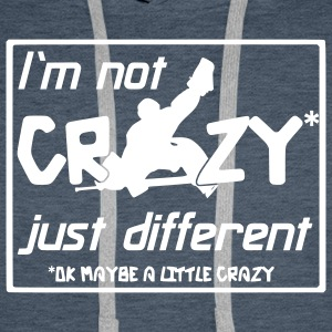 Hockey sur glace 'I'm Not Crazy' Sweat-shirt à capuche Homme - Sweat-shirt à capuche Premium pour hommes