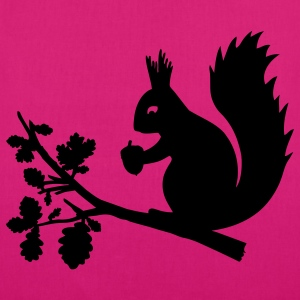 Magenta squirrel Bags  - EarthPositive Tote Bag