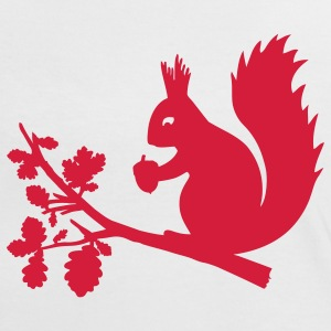 White/red squirrel T-Shirts - Women's Ringer T-Shirt