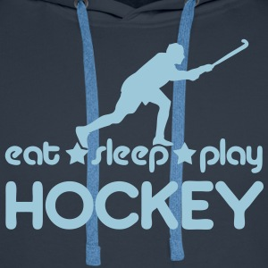 Eat Sleep Play Hockey Hoodies & Sweatshirts - Men's Premium Hoodie
