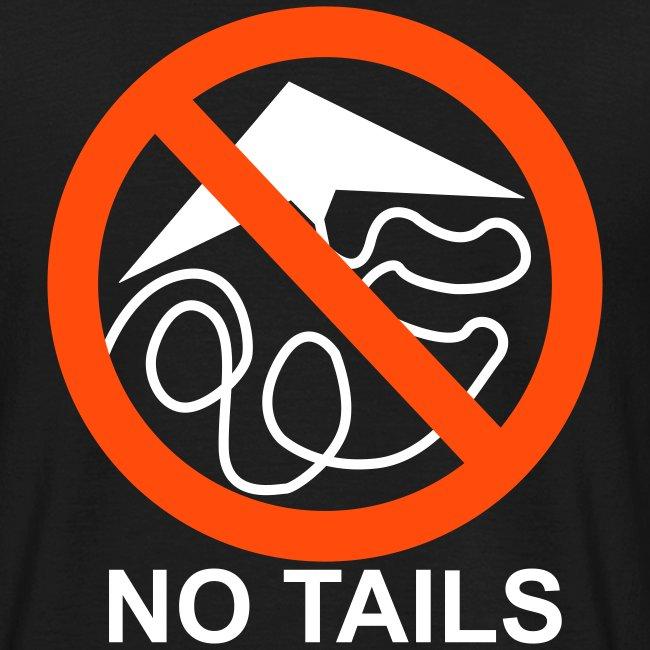 No Tails - black classic T