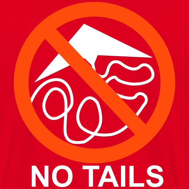 No Tails - red classic T