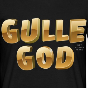 Gulle god - T-skjorte for menn