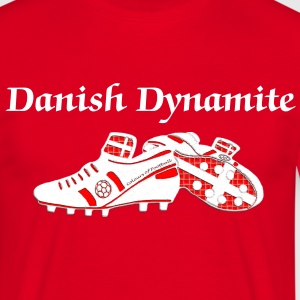 denmark white leather effect football boot digital transfer  T-Shirts - Men's T-Shirt