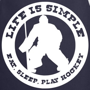 Life is Simple, Eat Sleep Play Hockey (goalie)  Aprons - Cooking Apron
