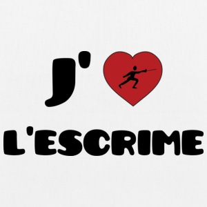 J'aime l'escrime ! [Fencing] Bags & Backpacks - EarthPositive Tote Bag