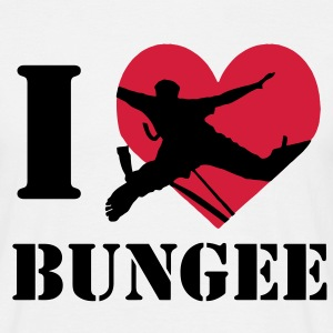 I love bungee jumping / I heart bungee T-Shirts - Men's T-Shirt