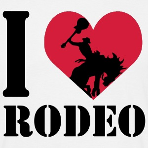 I love rodeo / rodeo I heart T-Shirts - Men's T-Shirt