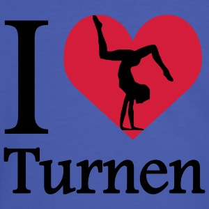 I love Turnen / I heart Turnen T-Shirts - Männer Kontrast-T-Shirt