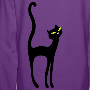 Retro Kittenish Cat by Patjila Hoodies & Sweatshirts - Women's Premium Hoodie