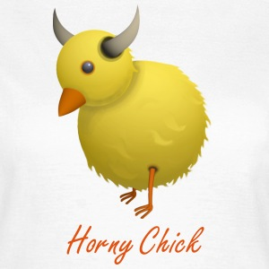 Horny Chick Humourous Cartoon T-Shirt - Women's T-Shirt