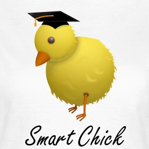 Smart Chick Humourous Cartoon T-Shirt - Women's T-Shirt