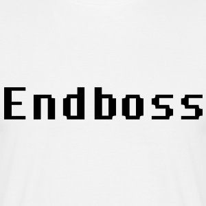 Endboss Endgegner Game Computerspiel Level Bossgegner Computer Zocken Daddeln Monster Fight Kampf T-Shirts - Männer T-Shirt