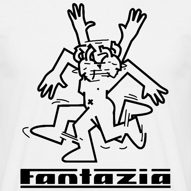 Fantazia Logo dancing man & FCC to rear T-shirt