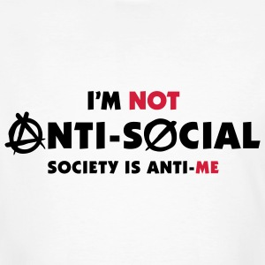 Im Not Anti Social 2 (2c)++ T-shirts - Mannen Bio-T-shirt