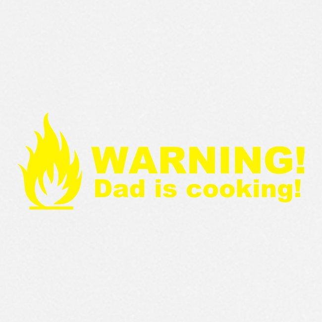 Isä keittiössä -essu. Pappa lagar mat -förkläde.