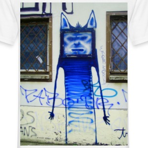face in TV  streetart  - Männer T-Shirt