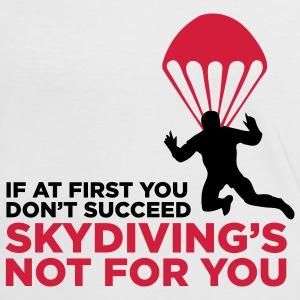 Sky Diving is not for you (2c)++ Camisetas - Camiseta contraste mujer