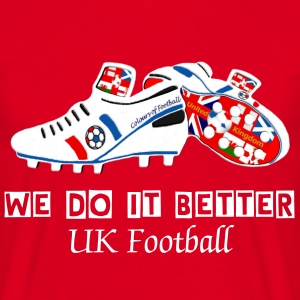 united kingdom red white blue union jack football T-Shirts - Men's T-Shirt