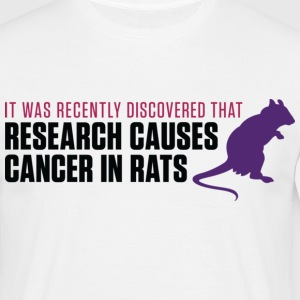Research Causes Cancer 2 (dd)++ Camisetas - Camiseta hombre
