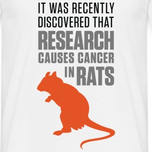 Research Causes Cancer 1 (dd)++ T-Shirts - Men's T-Shirt