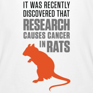 Research Causes Cancer 1 (dd)++ T-shirts - Organic mænd