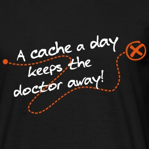 Geocaching A cache a day Tracks - Männer T-Shirt