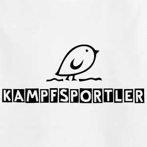 TWEETLERCOOLS - Tweetler + Dein Text (KAMPFSPORTLER) | Kindershirt - Teenager T-Shirt