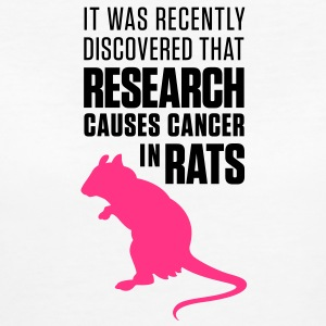 Research Causes Cancer 1 (2c)++ T-Shirts - Women's Organic T-shirt