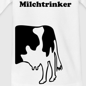 KUH ohne MUH + Dein Text (Milchtrinker) | Kindershirt - Teenager T-Shirt