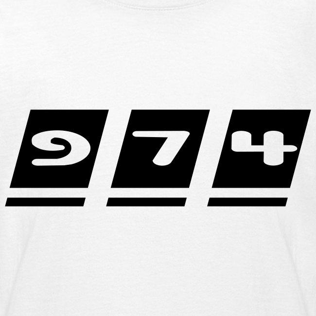 Tee shirt Ado écriture 974 - Réunion