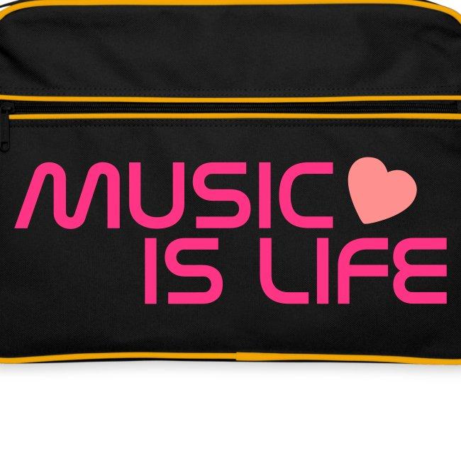 Sac rétro Music is life