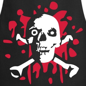 skull_and_blood_072011_c_2c  Aprons - Cooking Apron