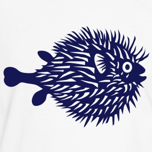 puffer fish t-shirt blowfish pregnant belly beer belly fishing fisherman mother mom mummy - Men's Ringer Shirt