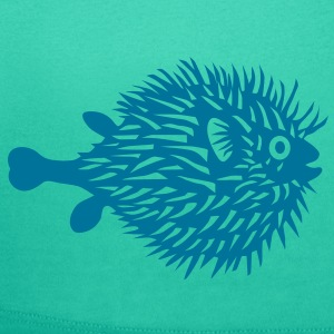 puffer fish t-shirt blowfish pregnant belly beer belly fishing fisherman mother mom mummy - Women's Scoop Neck T-Shirt