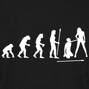 evolution_wedding1 T-shirts - Mannen T-shirt