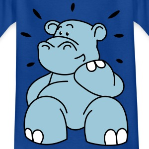 The hippo is happy Kids' Shirts - Teenage T-shirt
