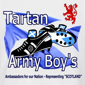 Tartan Army Boys Scotland Baseball Tee - Men's Baseball T-Shirt