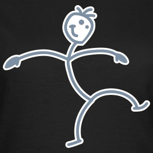 dance_stick_figure_2c T-Shirts - Women's T-Shirt