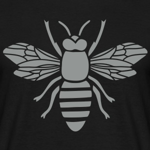 bee t-shirt i love honey bumble bee honeycomb beekeeper wasp sting busy insect wings wildlife animal - Men's T-Shirt