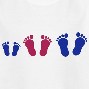 footprint_family_with_boy_2c Camisetas niños - Camiseta adolescente