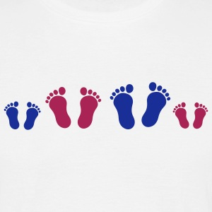 footprint_family_2c T-shirts - T-shirt herr