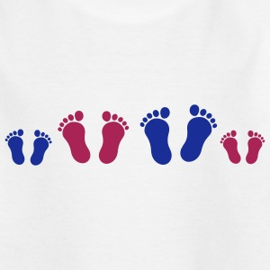footprint_family_2c Kinder shirts - Teenager T-shirt