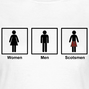 Women Men Scotsmen Funny Cartoon in Black - Women's T-Shirt